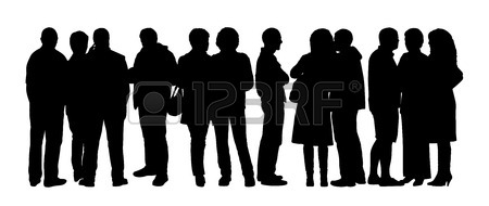 silueta-de-un-gran-grupo-de-personas-de-pie-hablando-en-diferentes-posturas